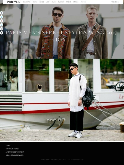 時尚網站THE IMPRESSION街拍報導:攝影師:Vincenzo Grillo